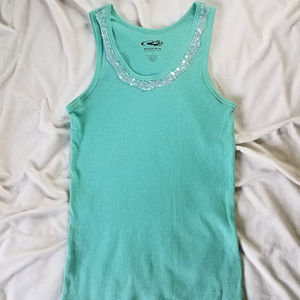 ROPER RIBBED TANK WITH SEQUINS!